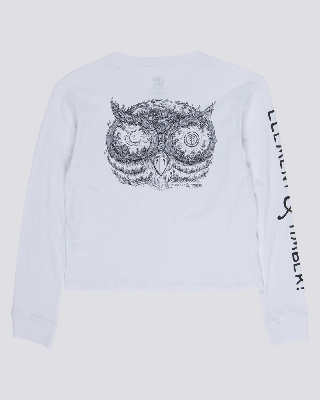 1 Timber - Cropped Long Sleeve T-Shirt White Q3LSA2ELF9 Element