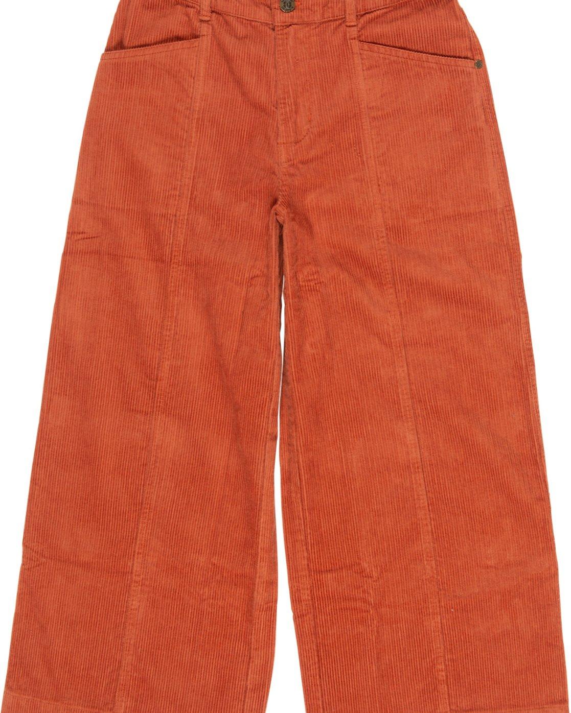 2 Wide Awake - Wide Leg Corduroy Trousers Orange Q3PTA4ELF9 Element