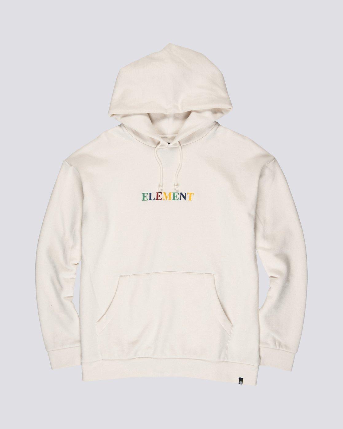 3 Big Hood Rainbow - Felpa con Cappuccio da Uomo White S1HOA6ELP0 Element