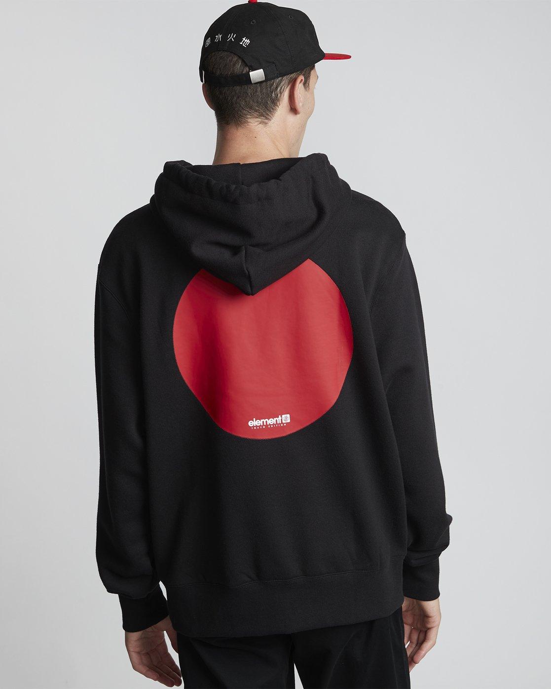 0 Primo Tokyo Dot - Sweatshirt für Herren Schwarz S1HOA7ELP0 Element