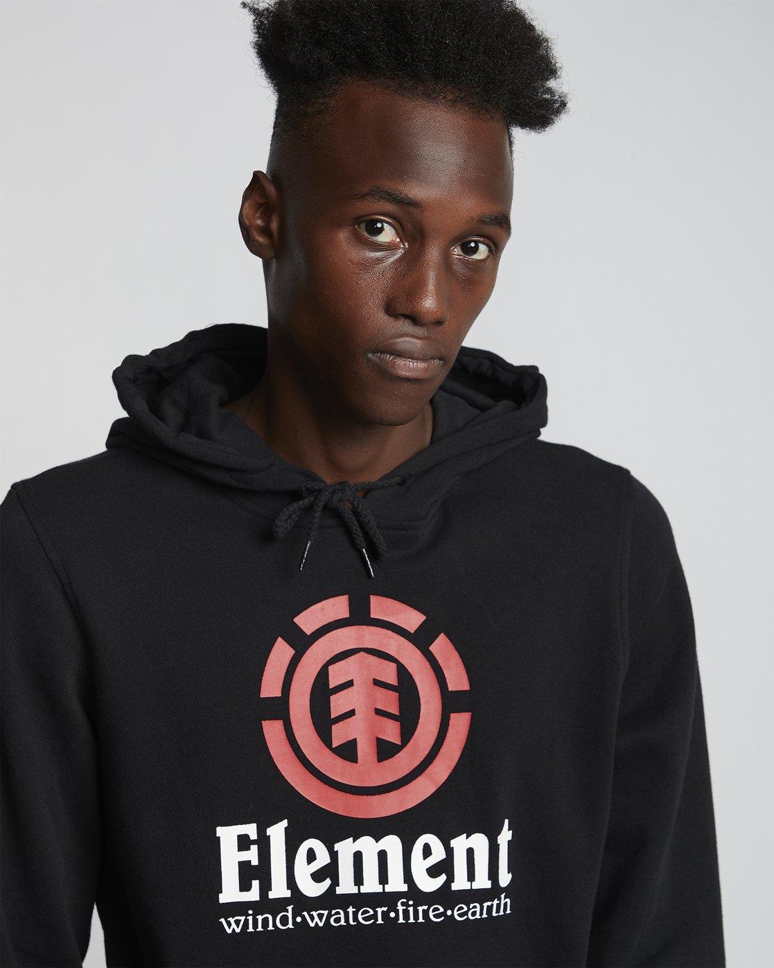 2 Vertical - Sweat à capuche pour Homme Noir S1HOB1ELP0 Element