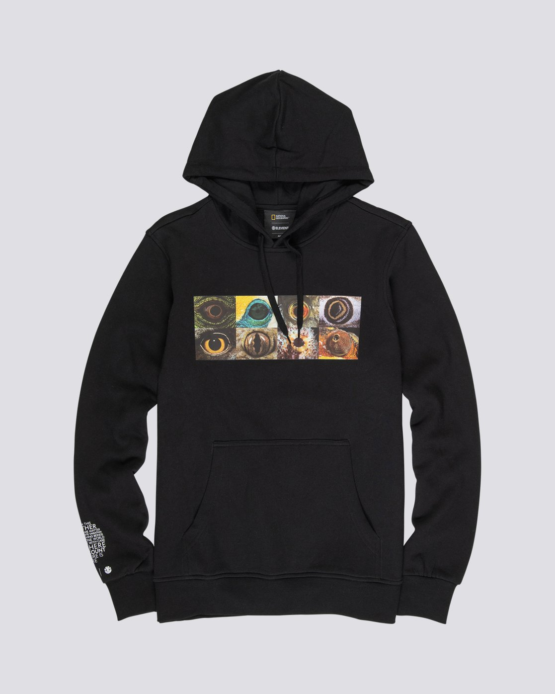 4 National Geographic Optical - Recycled Hoodie for Men Black S1HOC4ELP0 Element