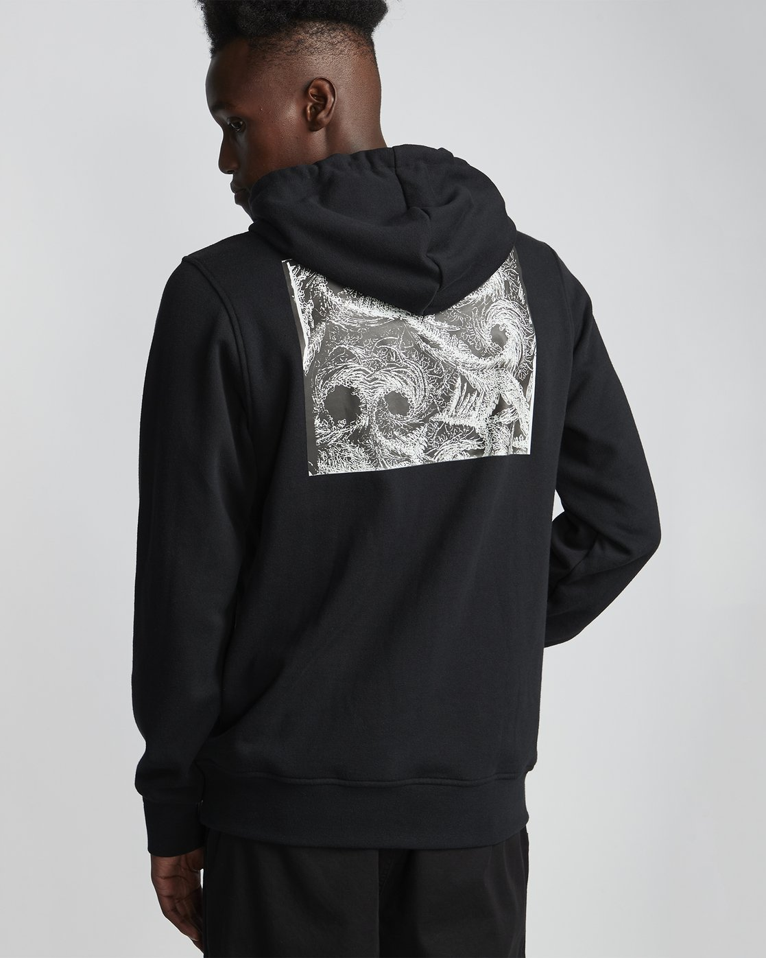 0 National Geographic Roots Fleece - Recycled Hoodie for Men Black S1HOC5ELP0 Element