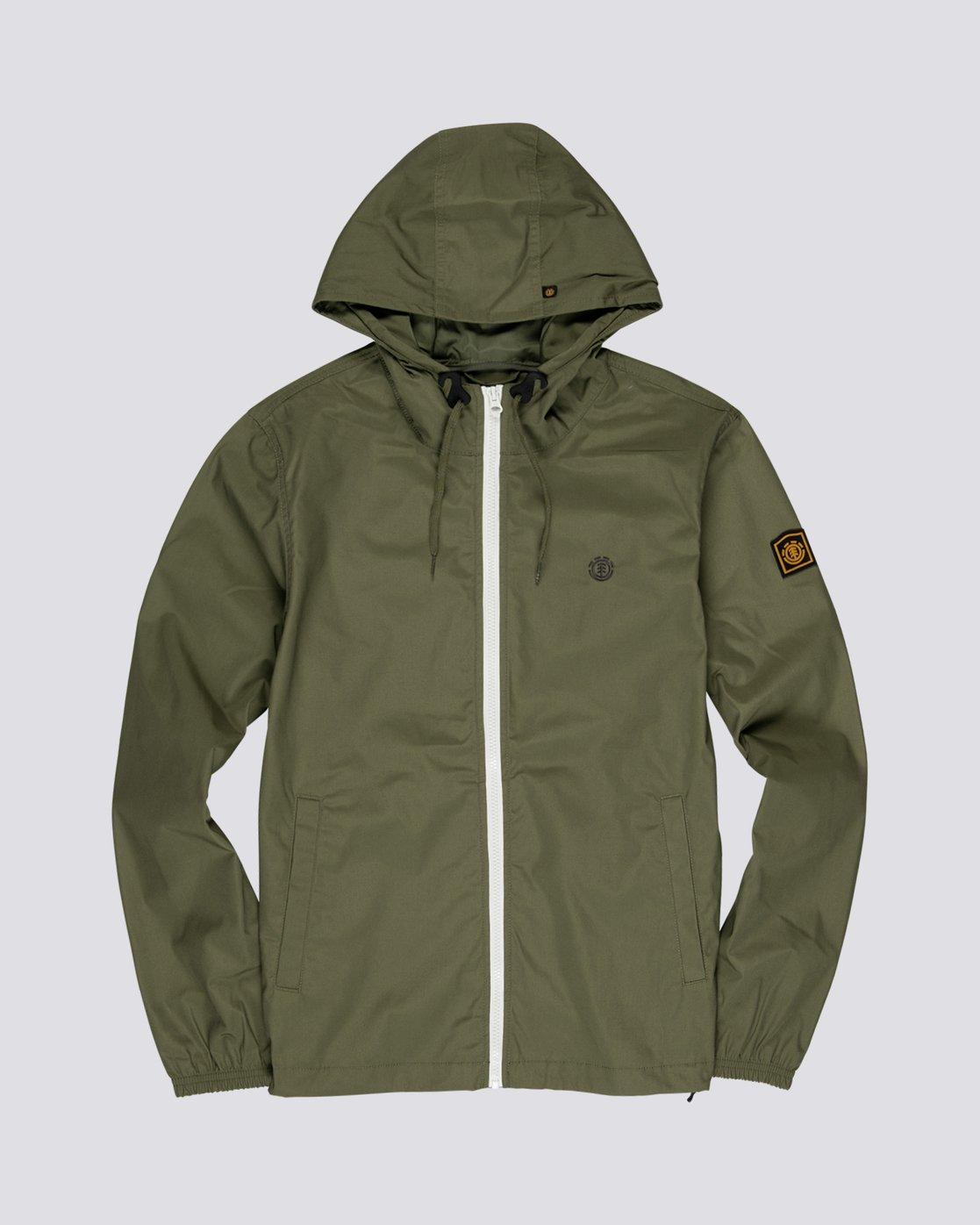 Element Mens Wolfeboro Alder Hooded Zip Jacket