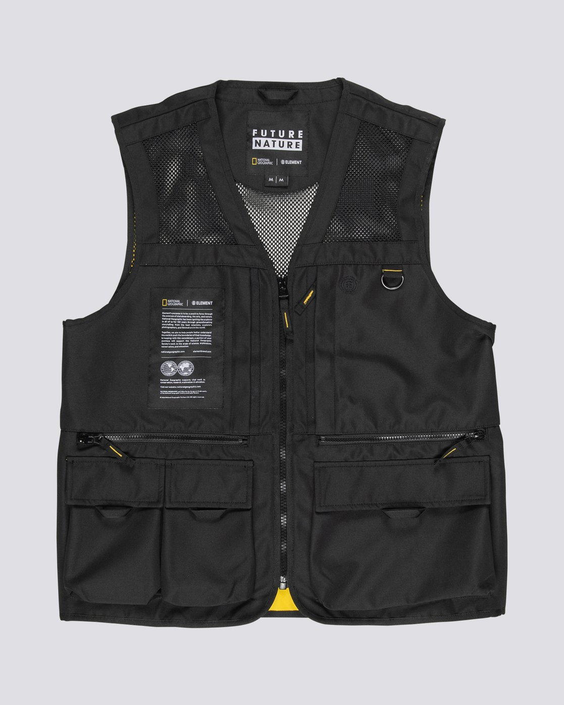 14 National Geographic Aether - Recycled Waterproof Vest for Men Black S1JKC6ELP0 Element