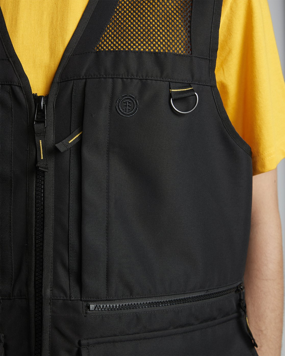 11 National Geographic Aether - Recycled Waterproof Vest for Men Black S1JKC6ELP0 Element
