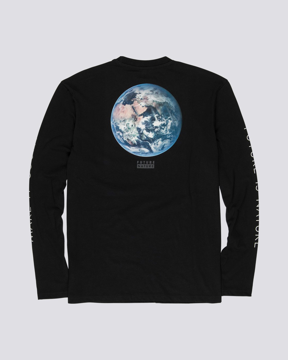 4 National Geographic Earth - Organic Cotton Long Sleeve T-Shirt for Men Black S1LSB9ELP0 Element