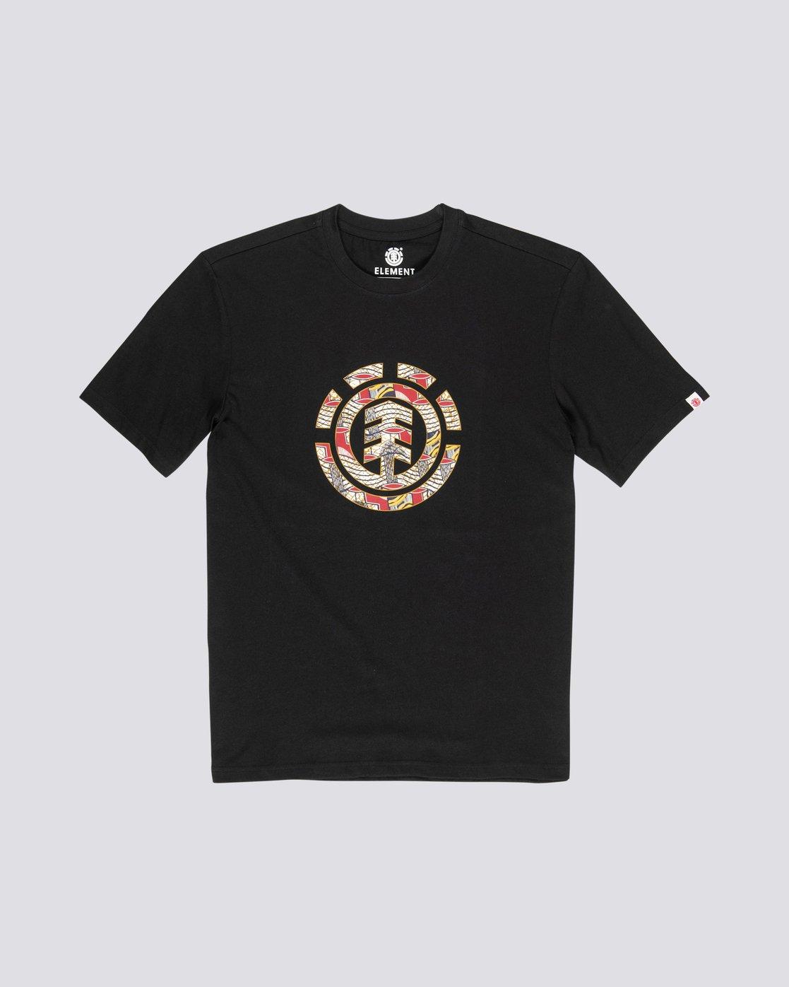 3 Origins Icon - Camiseta de manga corta para Hombre Negro S1SSA4ELP0 Element