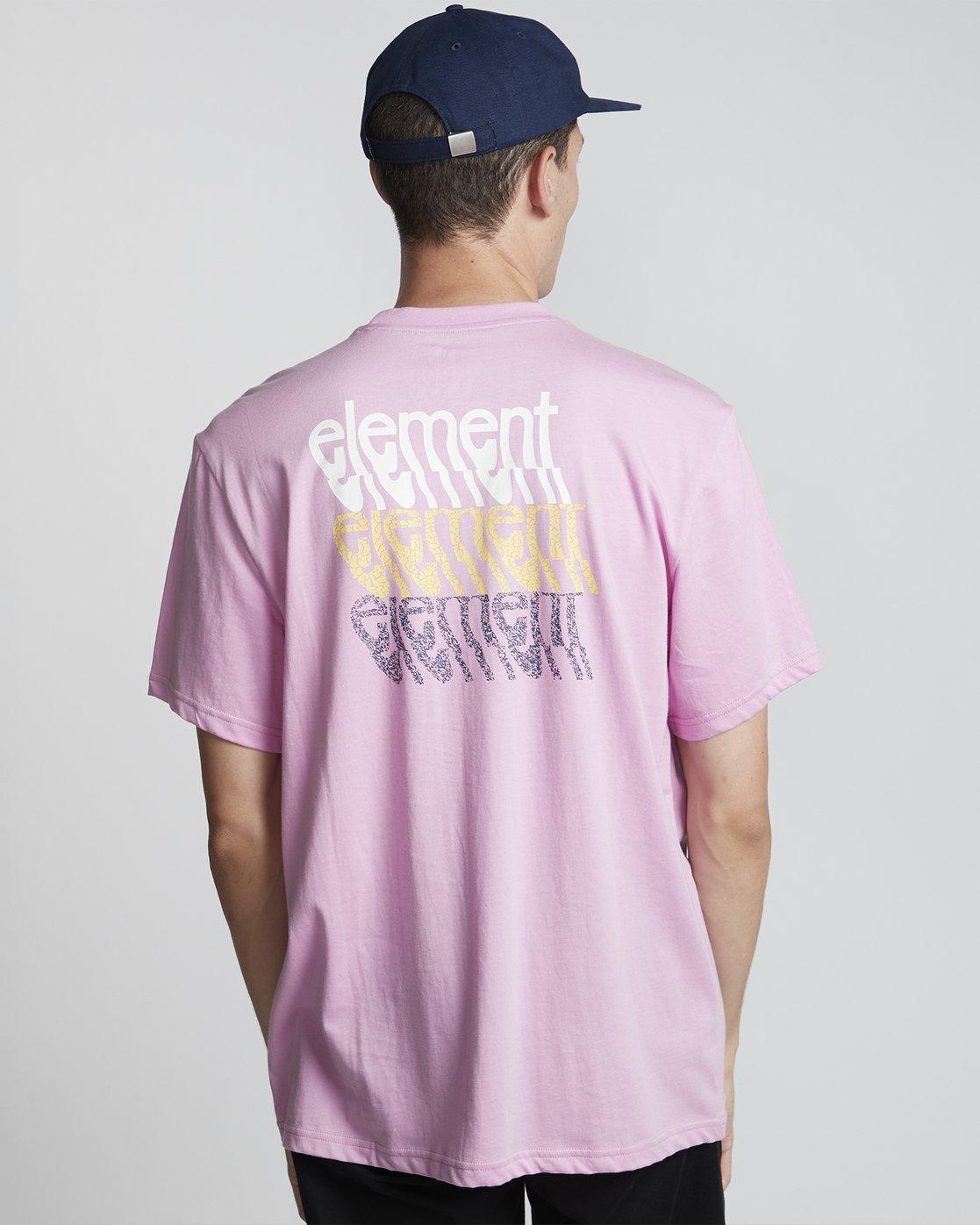 0 Stiles - Camiseta de manga corta para Hombre Violeta S1SSA7ELP0 Element