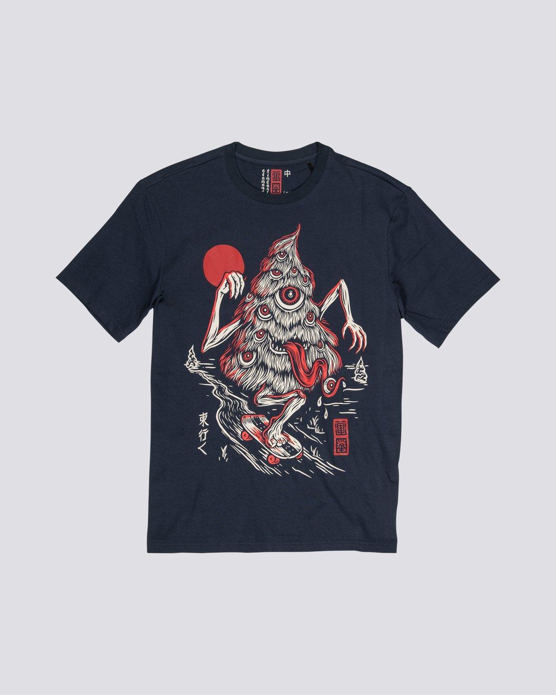 3 Tree Ghost - Short Sleeve T-Shirt for Men Purple S1SSD2ELP0 Element