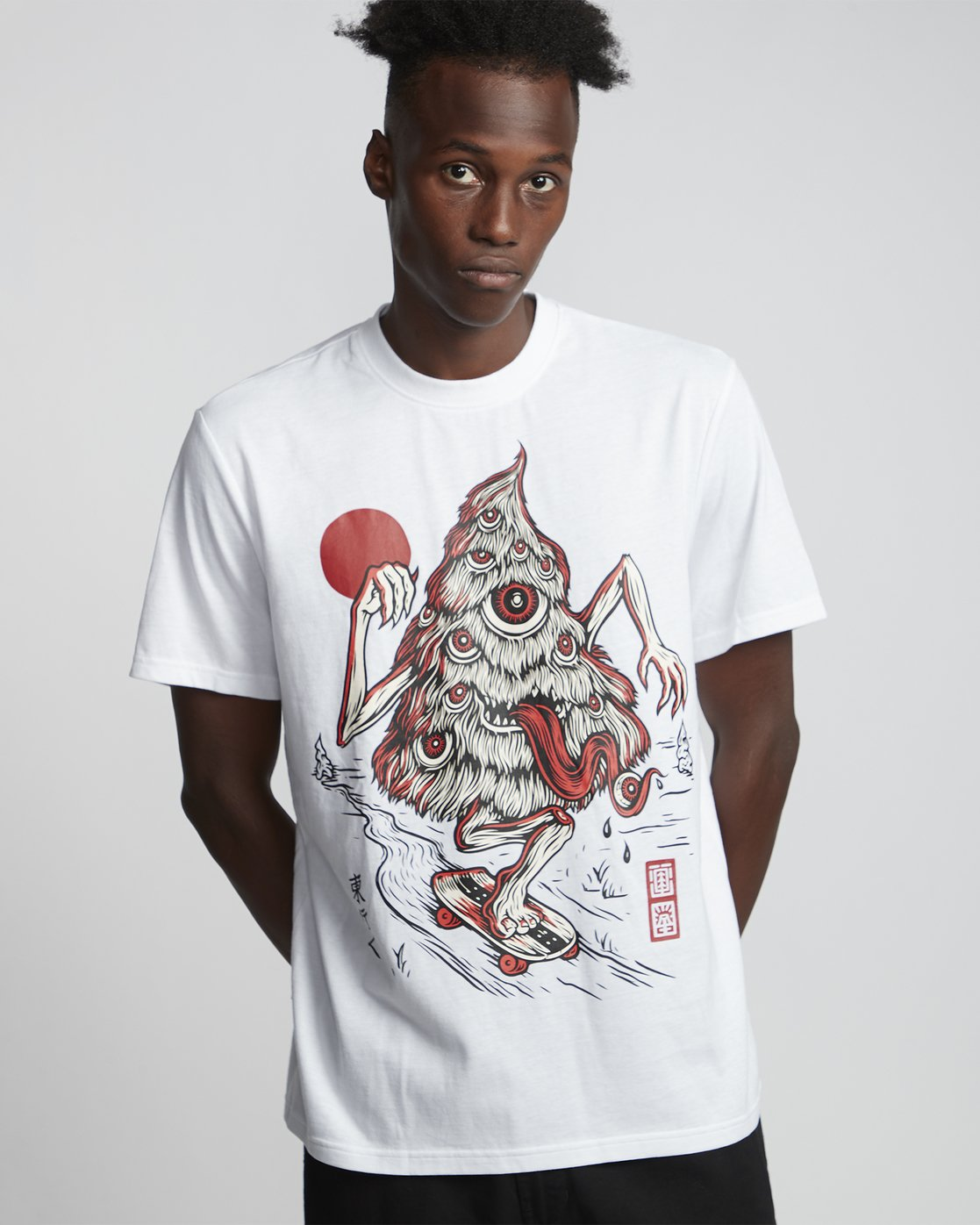 1 Timber! Go East Tree Ghost - Organic Cotton Short Sleeve T-Shirt for Men White S1SSD2ELP0 Element