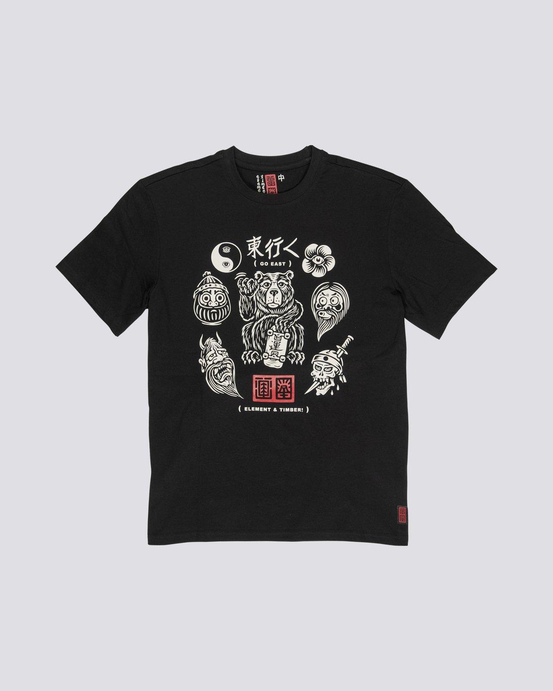 0 Timber! Go East Flash - Camiseta de manga corta de algodón orgánico para Hombre  S1SSD4ELP0 Element