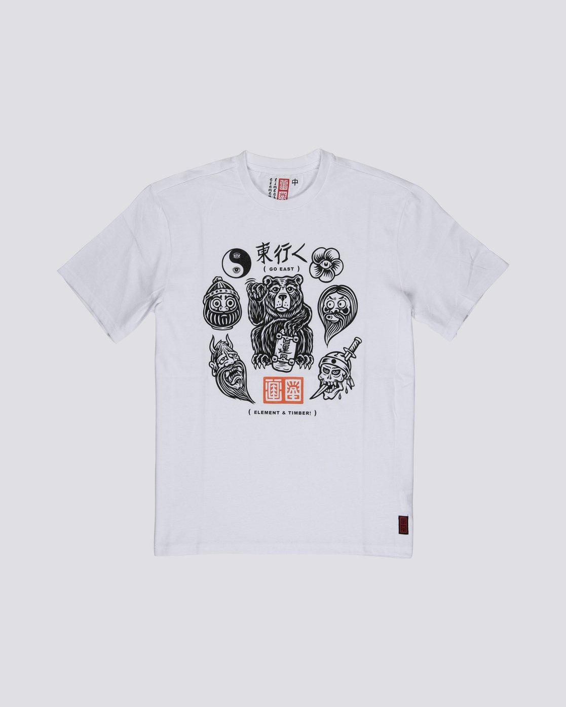 3 Flash - Short Sleeve T-Shirt for Men White S1SSD4ELP0 Element