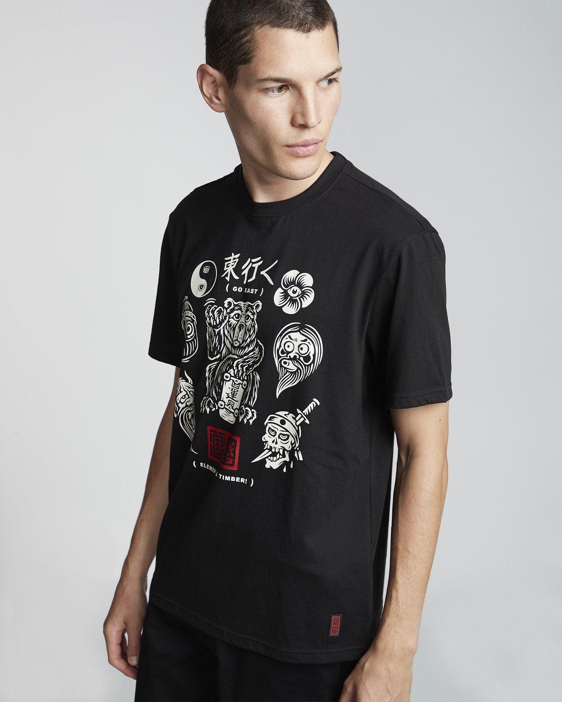 3 Timber! Go East Flash - Camiseta de manga corta de algodón orgánico para Hombre  S1SSD4ELP0 Element