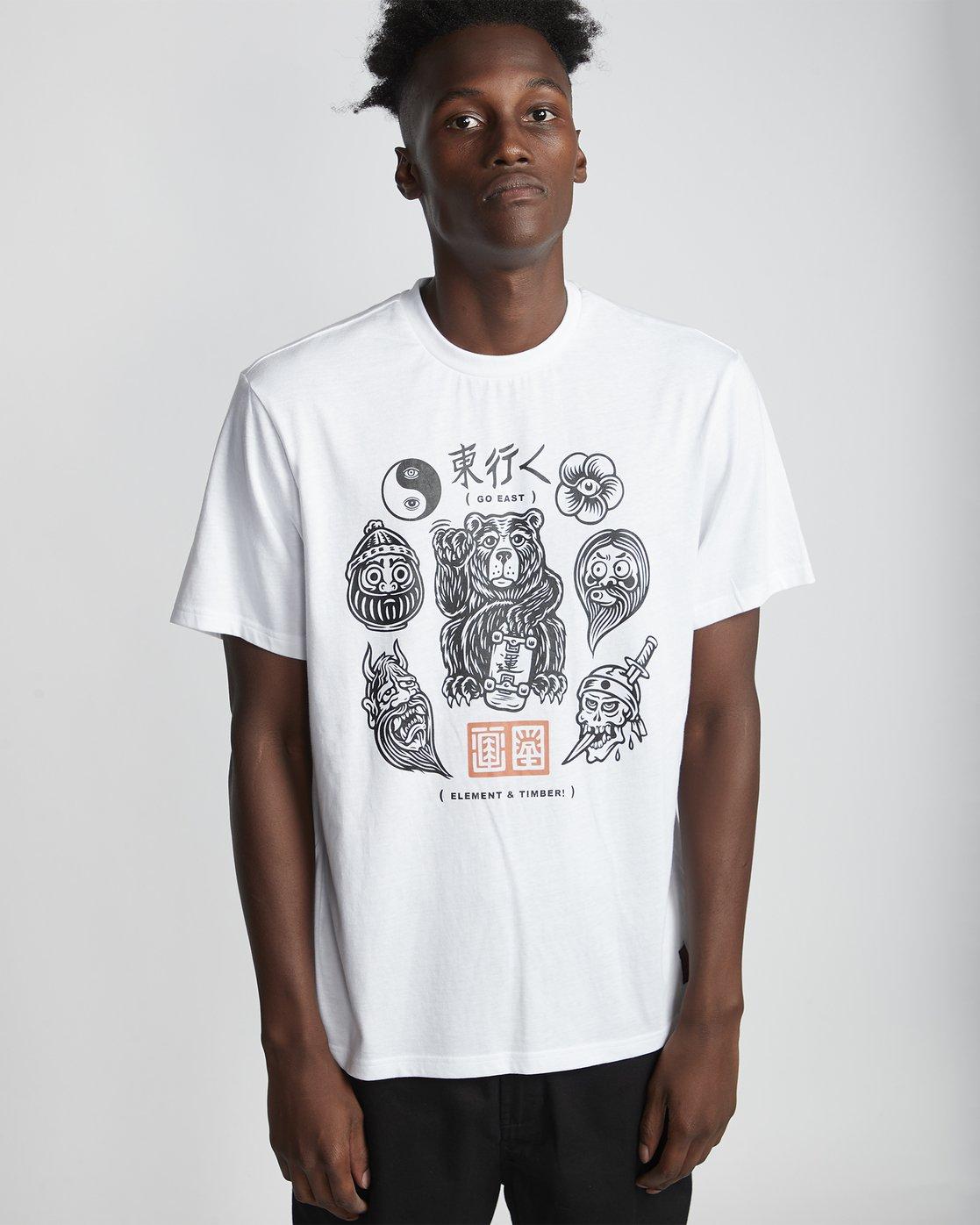 0 Flash - Short Sleeve T-Shirt for Men White S1SSD4ELP0 Element