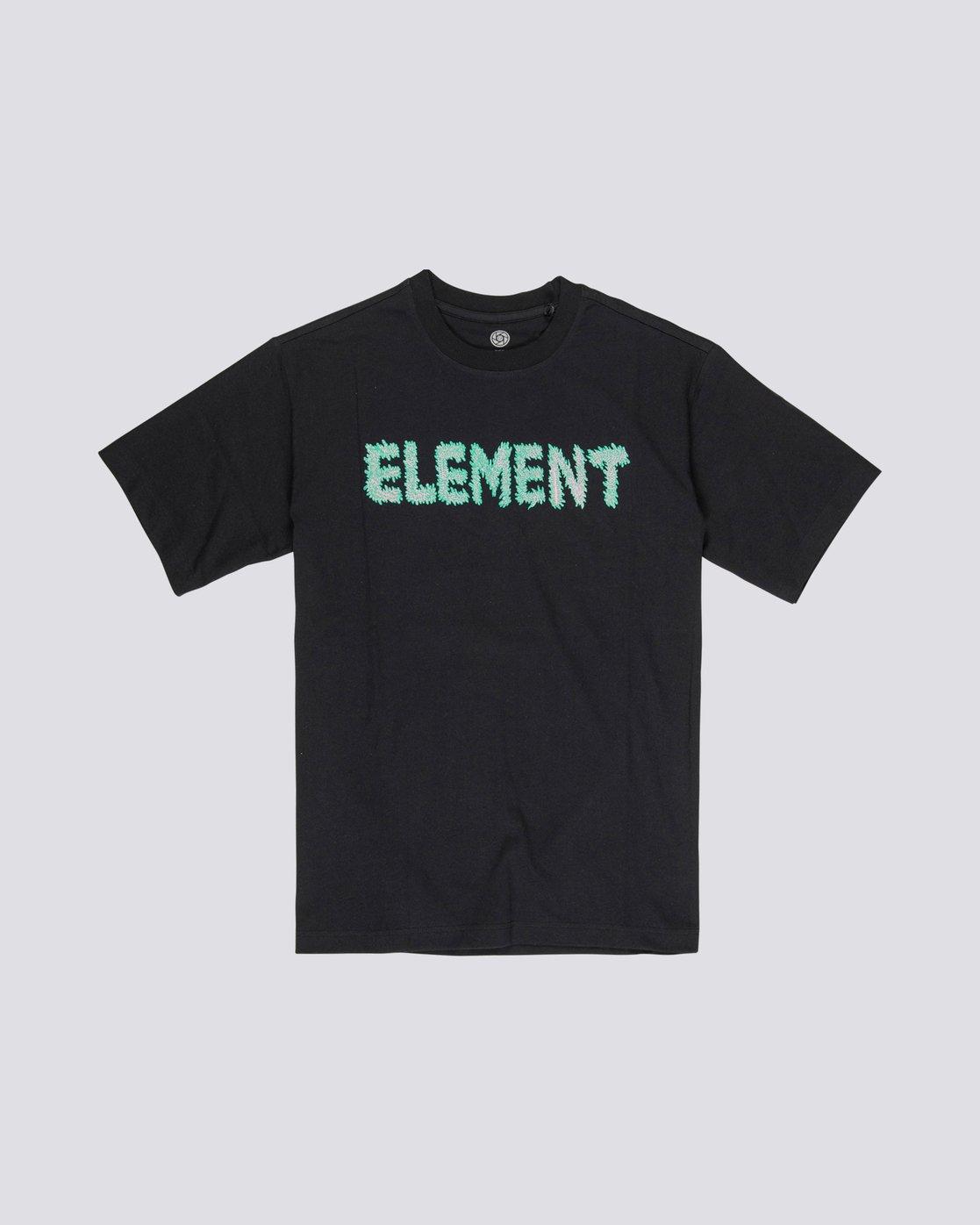 3 Tetsunori Tawaraya Lettering - Short Sleeve T-Shirt for Men Black S1SSE2ELP0 Element