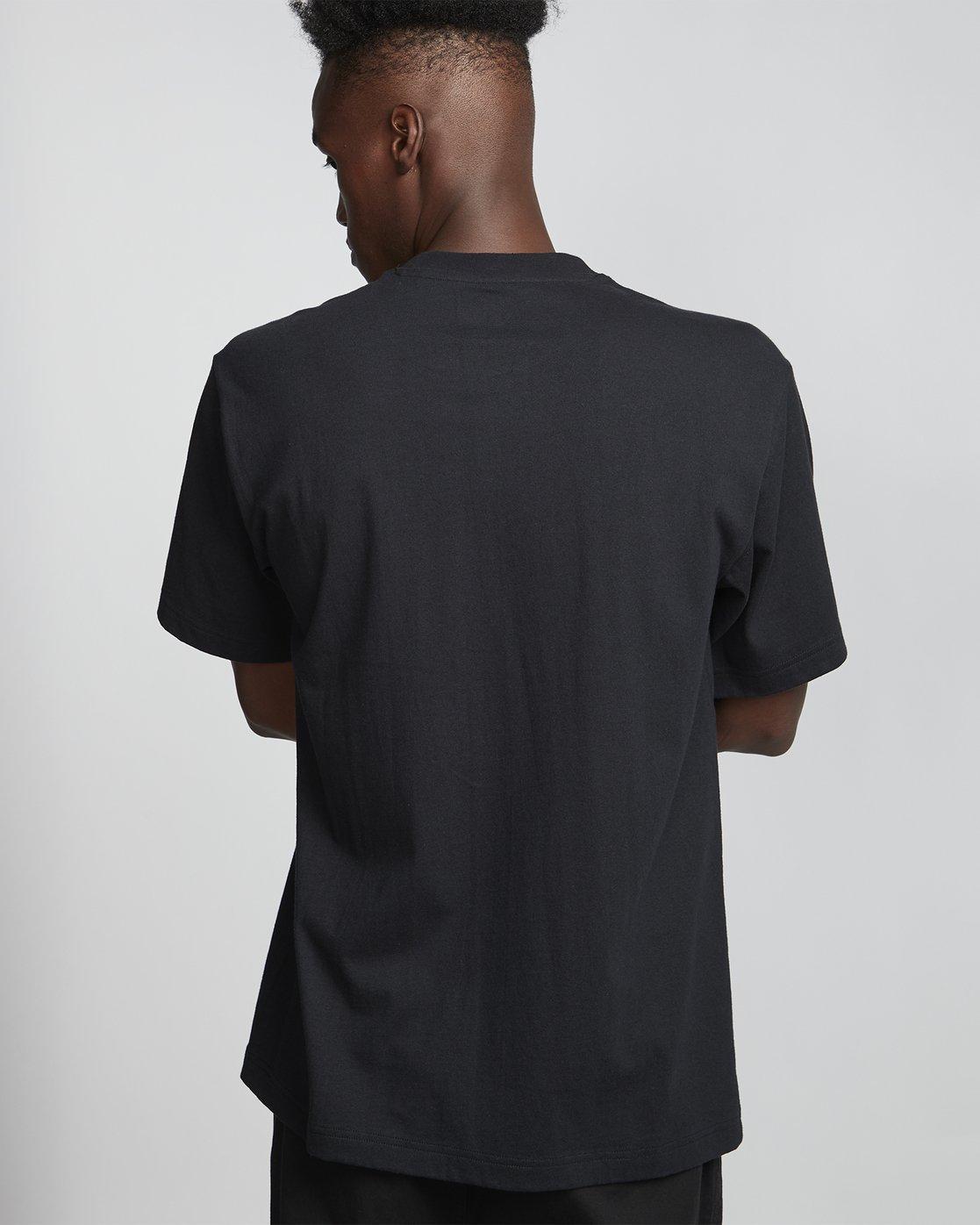 1 Tetsunori Tawaraya Lettering - Short Sleeve T-Shirt for Men Black S1SSE2ELP0 Element