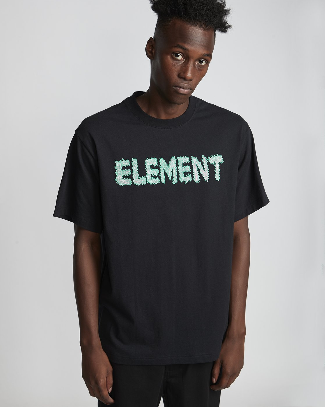 0 Tetsunori Tawaraya Lettering - T-Shirt für Herren Schwarz S1SSE2ELP0 Element