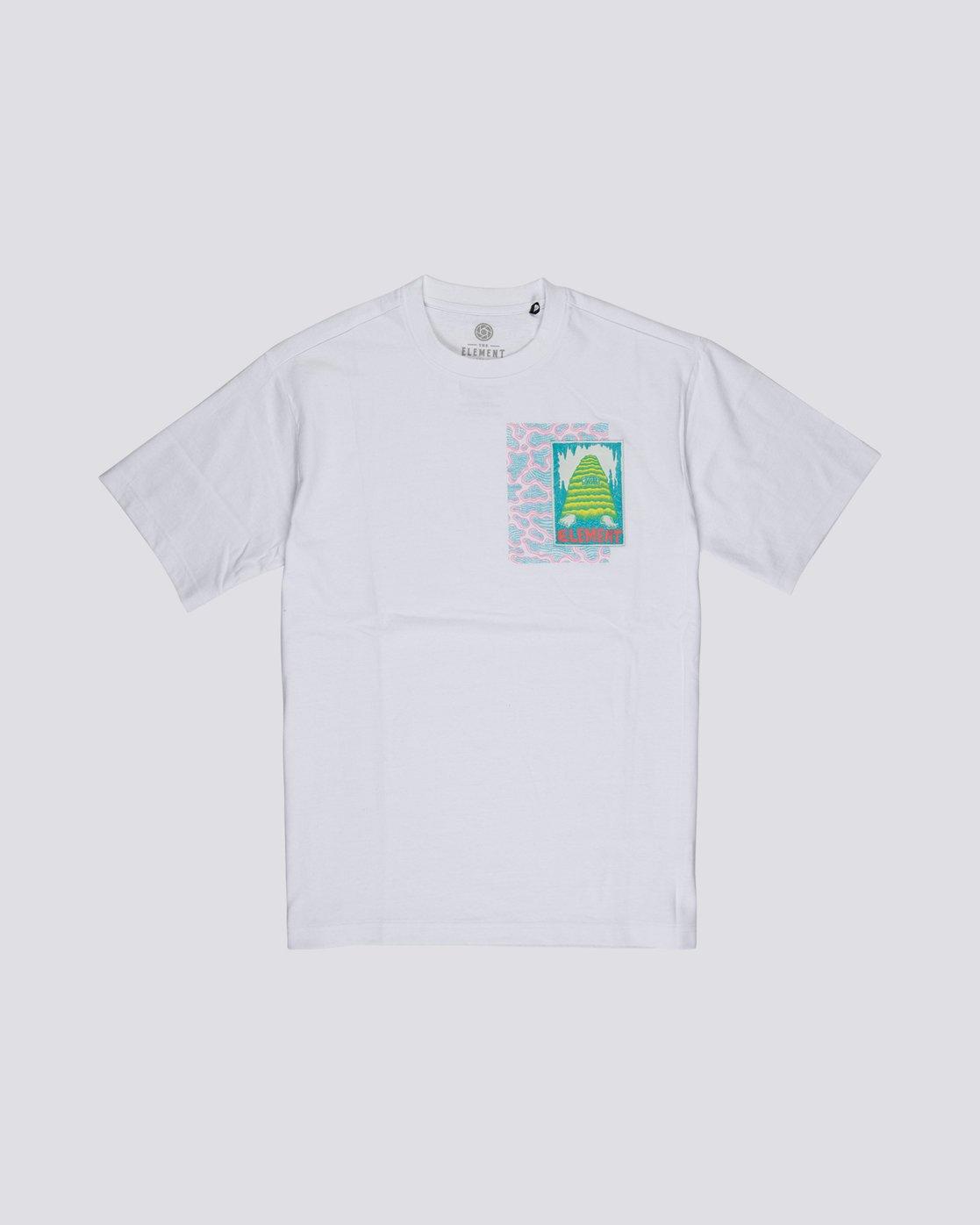 3 Tetsunori Tawaraka Pyramid Man - T-Shirt manches courtes pour Homme Blanc S1SSE3ELP0 Element