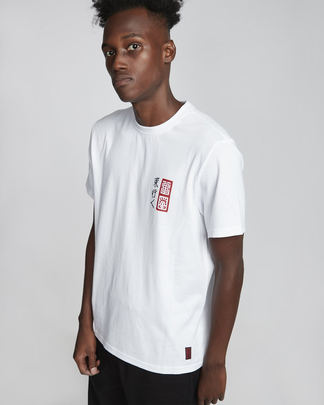 4 Timber! Go East Demon Keeper - Organic Cotton Short Sleeve T-Shirt for Men White S1SSF4ELP0 Element