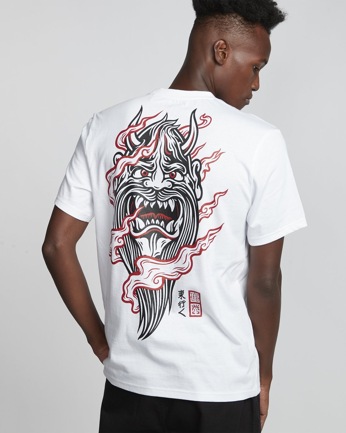 2 Timber! Go East Demon Keeper - Organic Cotton Short Sleeve T-Shirt for Men White S1SSF4ELP0 Element