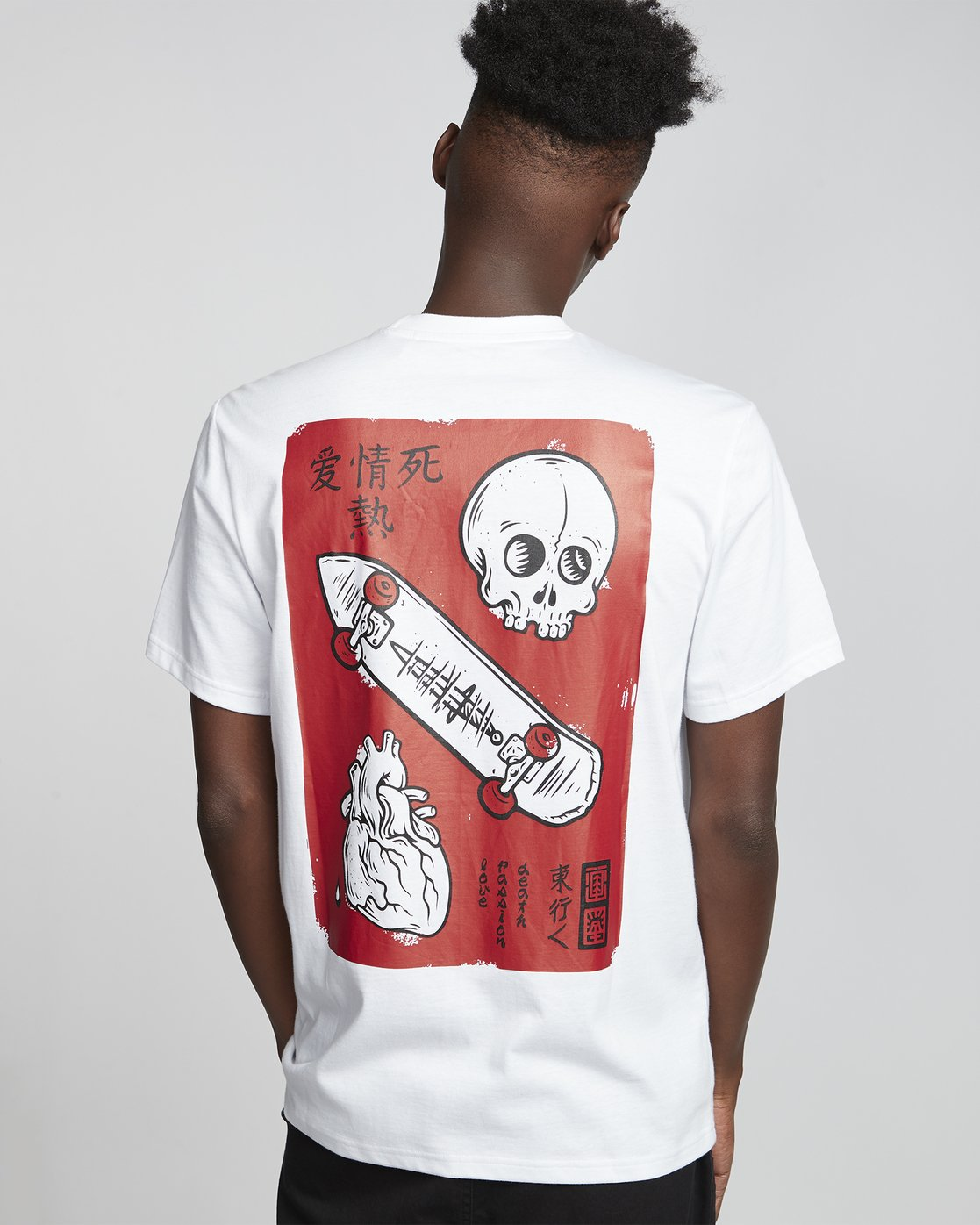 2 Timber! Go East Love Passion Death - Organic Cotton Short Sleeve T-Shirt for Men White S1SSF5ELP0 Element