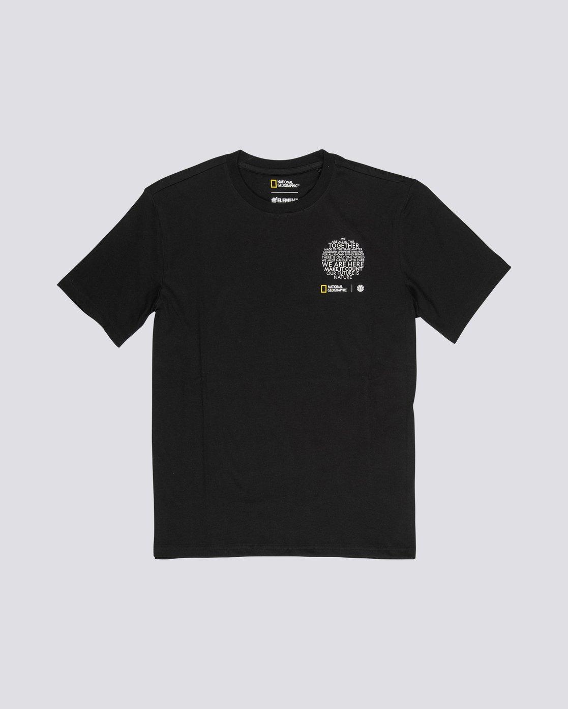 3 National Geographic Sun - Organic Cotton Short Sleeve T-Shirt for Men Black S1SSG8ELP0 Element