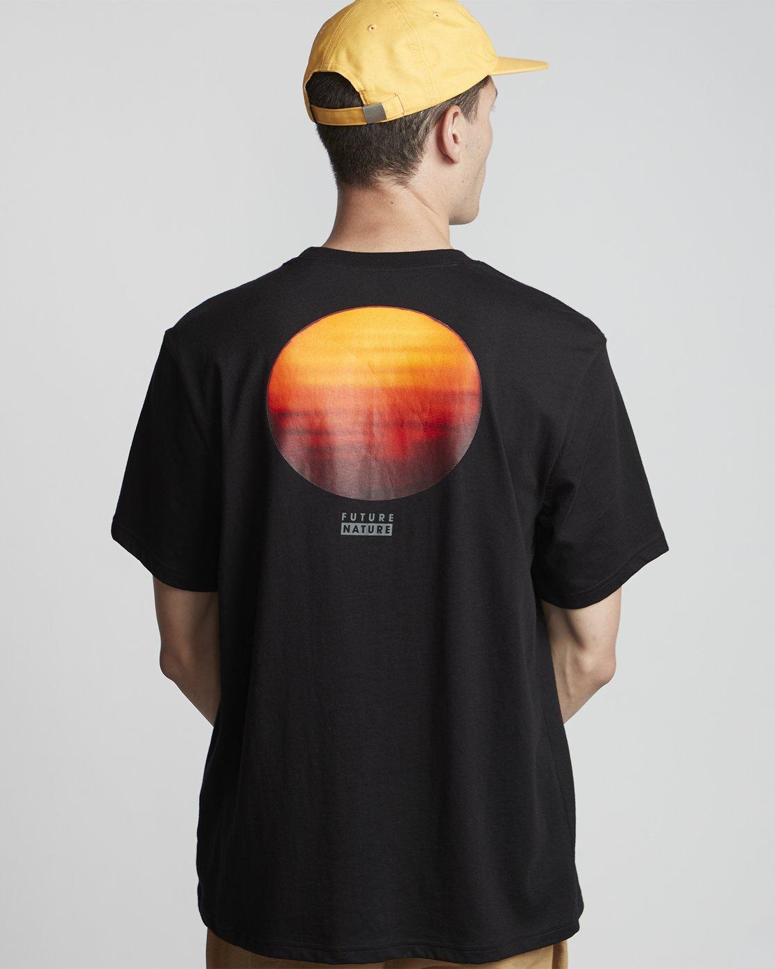 0 National Geographic Sun - Organic Cotton Short Sleeve T-Shirt for Men Black S1SSG8ELP0 Element