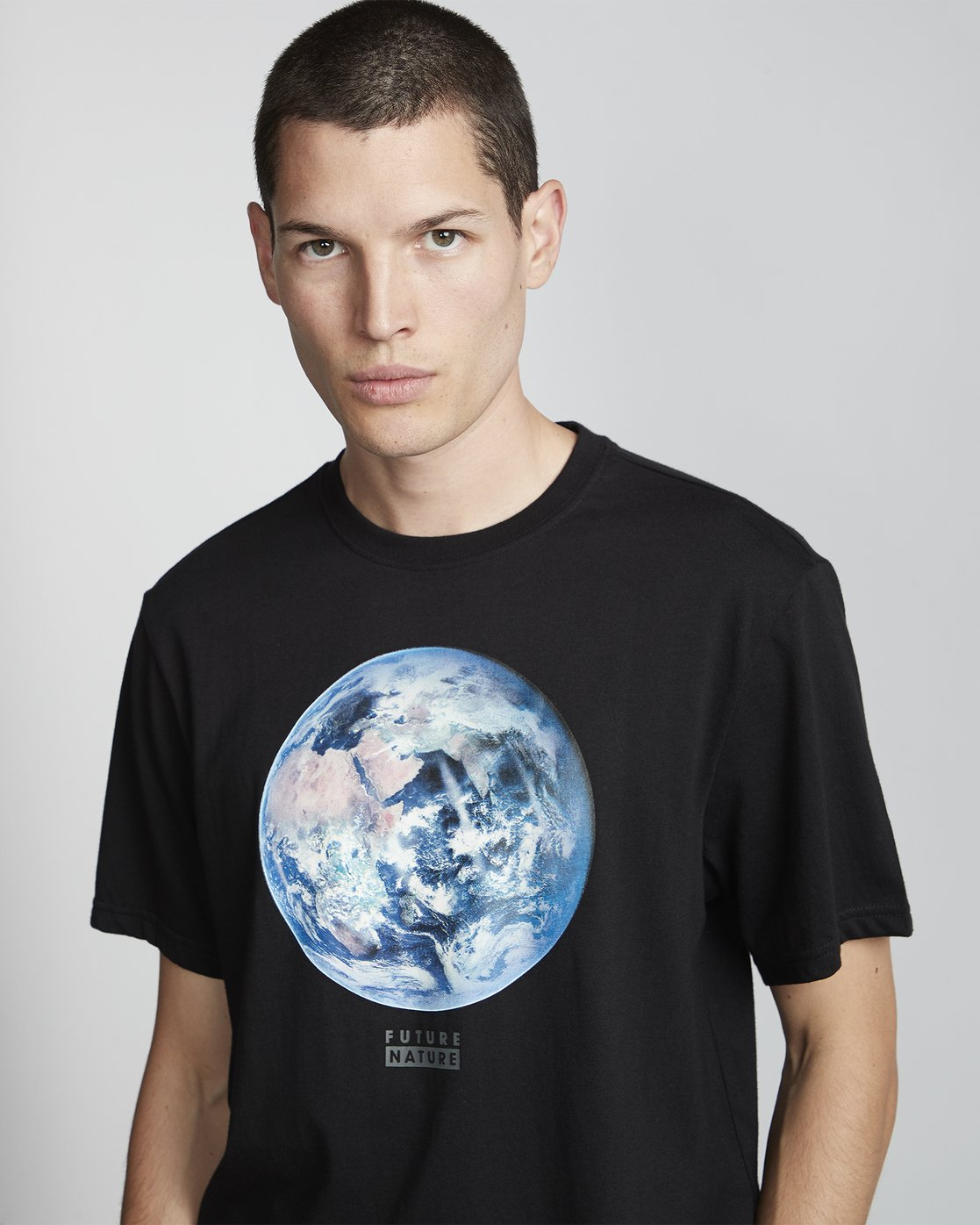 2 National Geographic Earth - Organic Cotton Short Sleeve T-Shirt for Men Black S1SSG9ELP0 Element