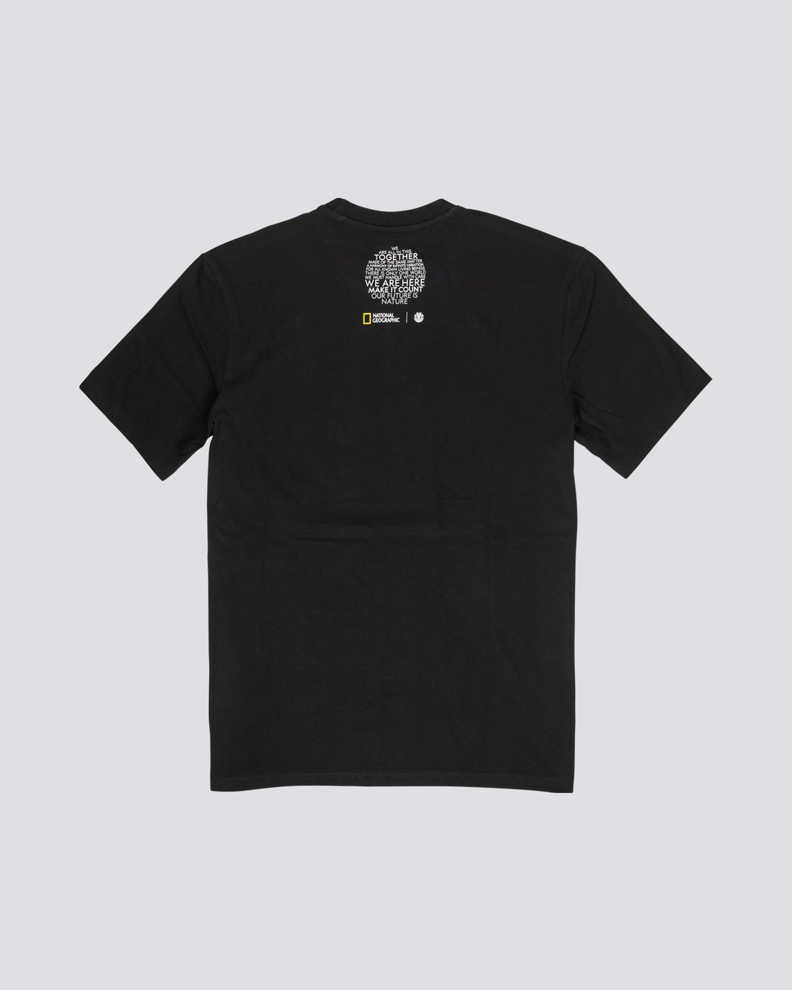 4 National Geographic Spiral - Organic Cotton Short Sleeve T-Shirt for Men Black S1SSH3ELP0 Element