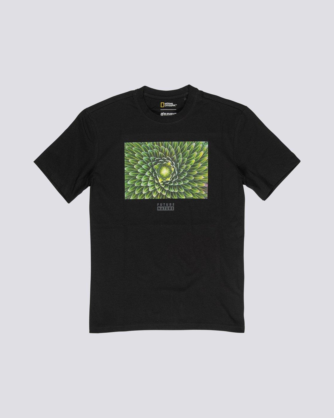 3 National Geographic Spiral - Organic Cotton Short Sleeve T-Shirt for Men Black S1SSH3ELP0 Element