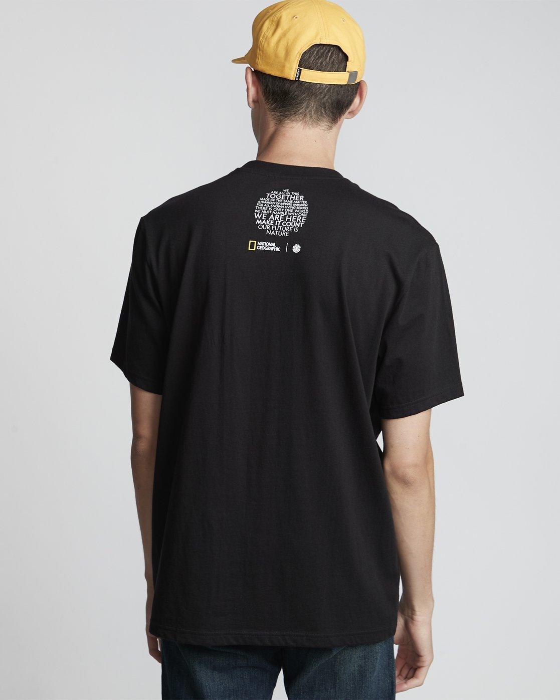 1 National Geographic Spiral - Organic Cotton Short Sleeve T-Shirt for Men Black S1SSH3ELP0 Element