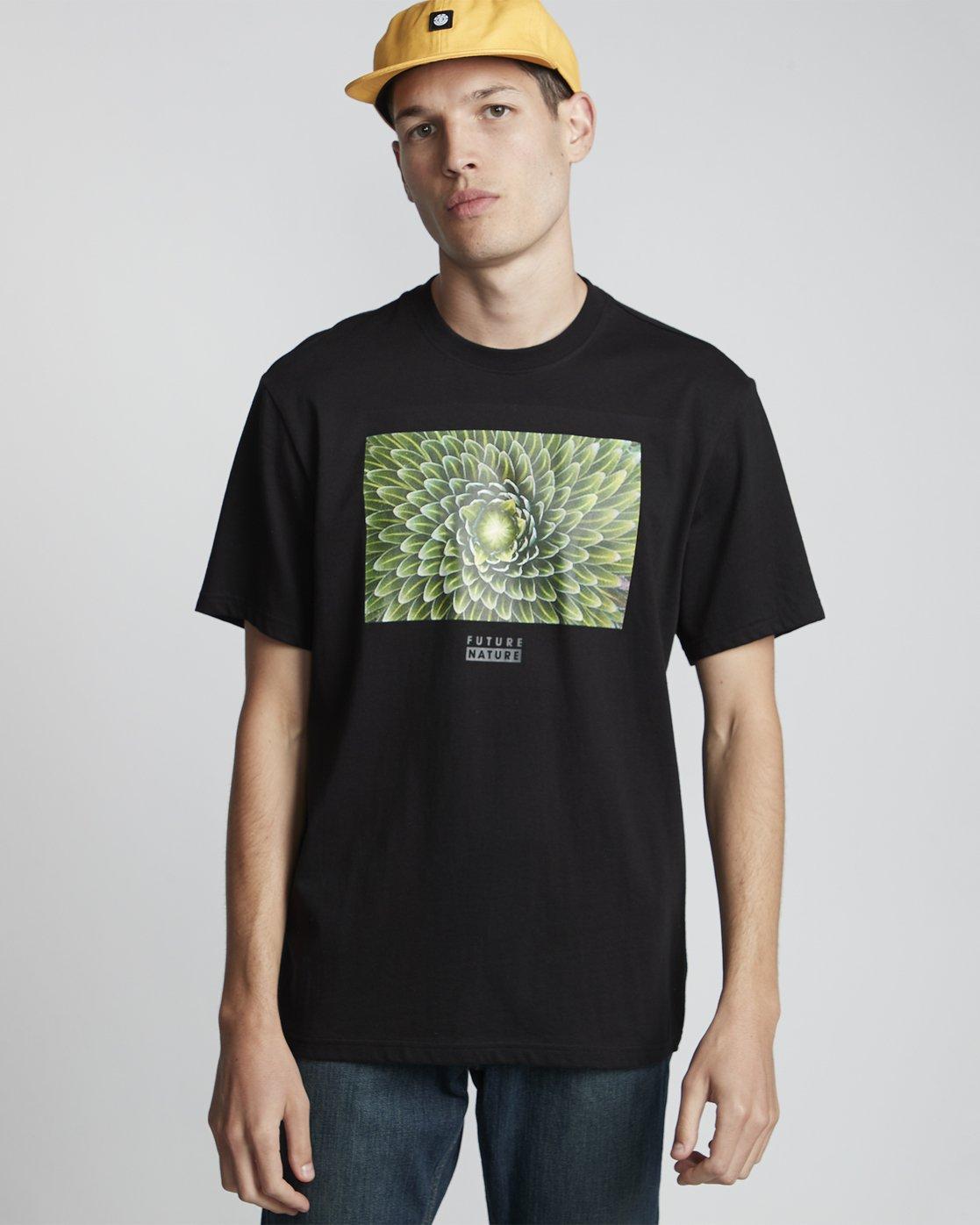 0 National Geographic Spiral - Organic Cotton Short Sleeve T-Shirt for Men Black S1SSH3ELP0 Element