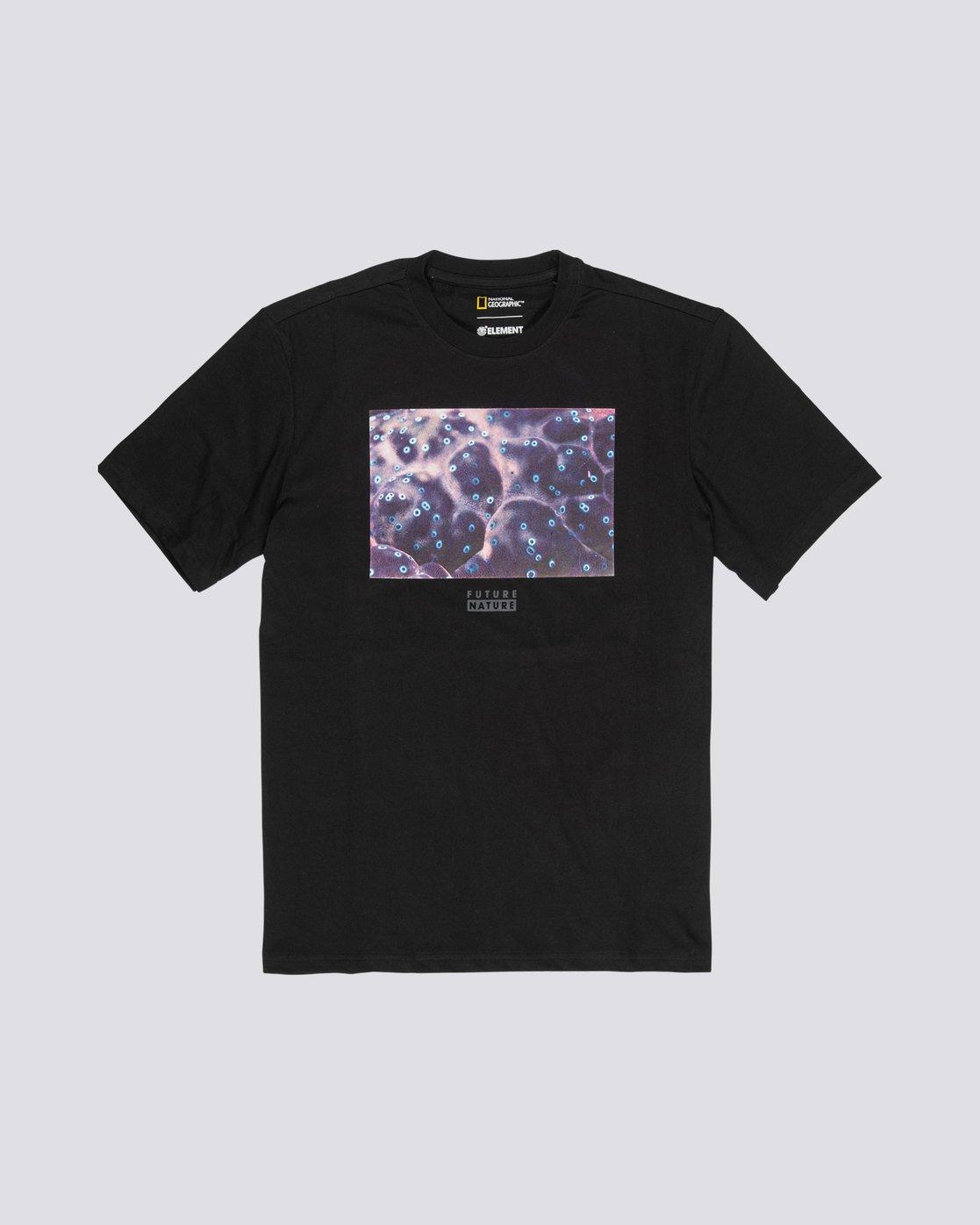 3 National Geographic Micro - Organic Cotton Short Sleeve T-Shirt for Men Black S1SSH4ELP0 Element