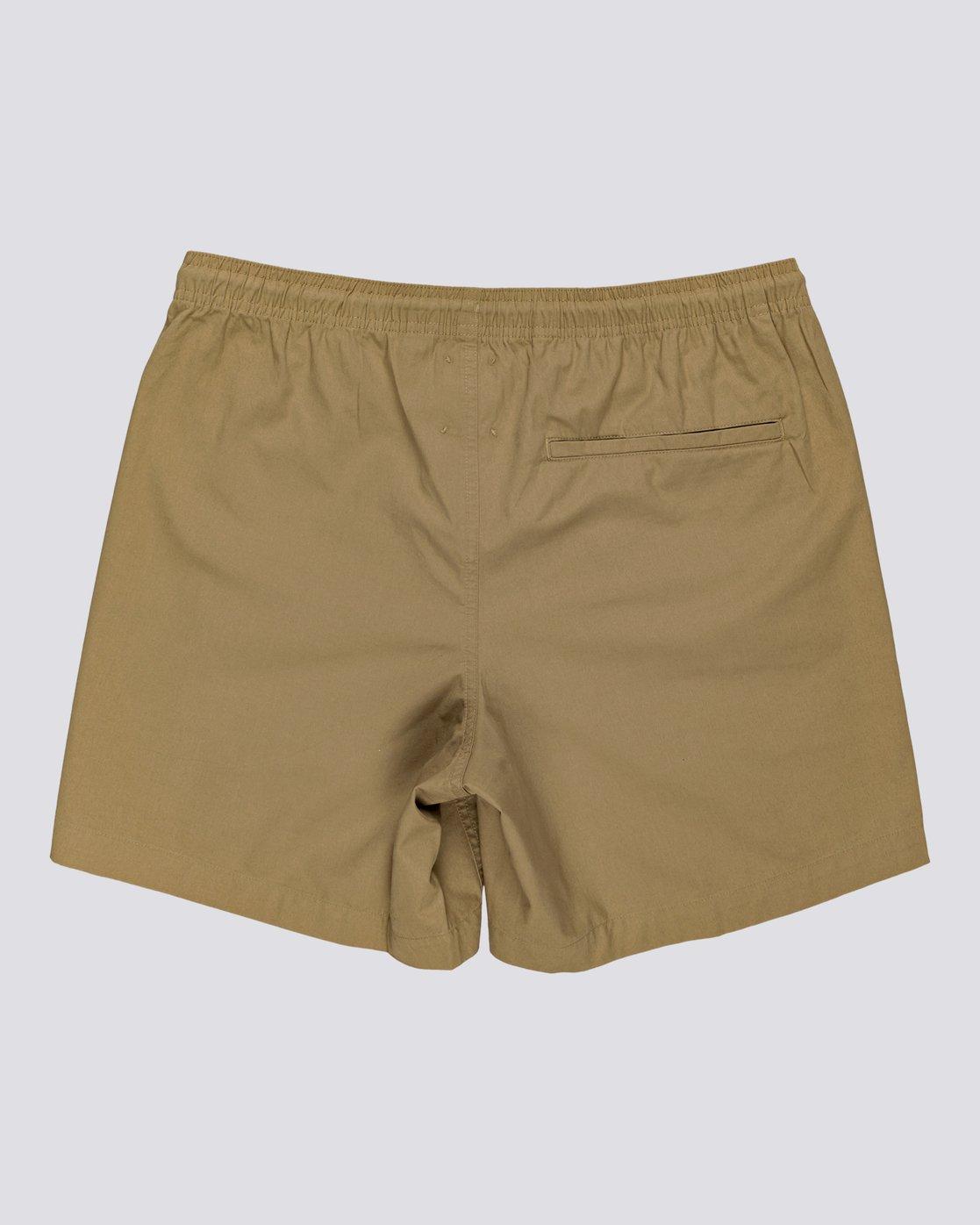 "3 Vacation 16"" - Elastic Waist Shorts for Men Brown S1WKC1ELMU Element"