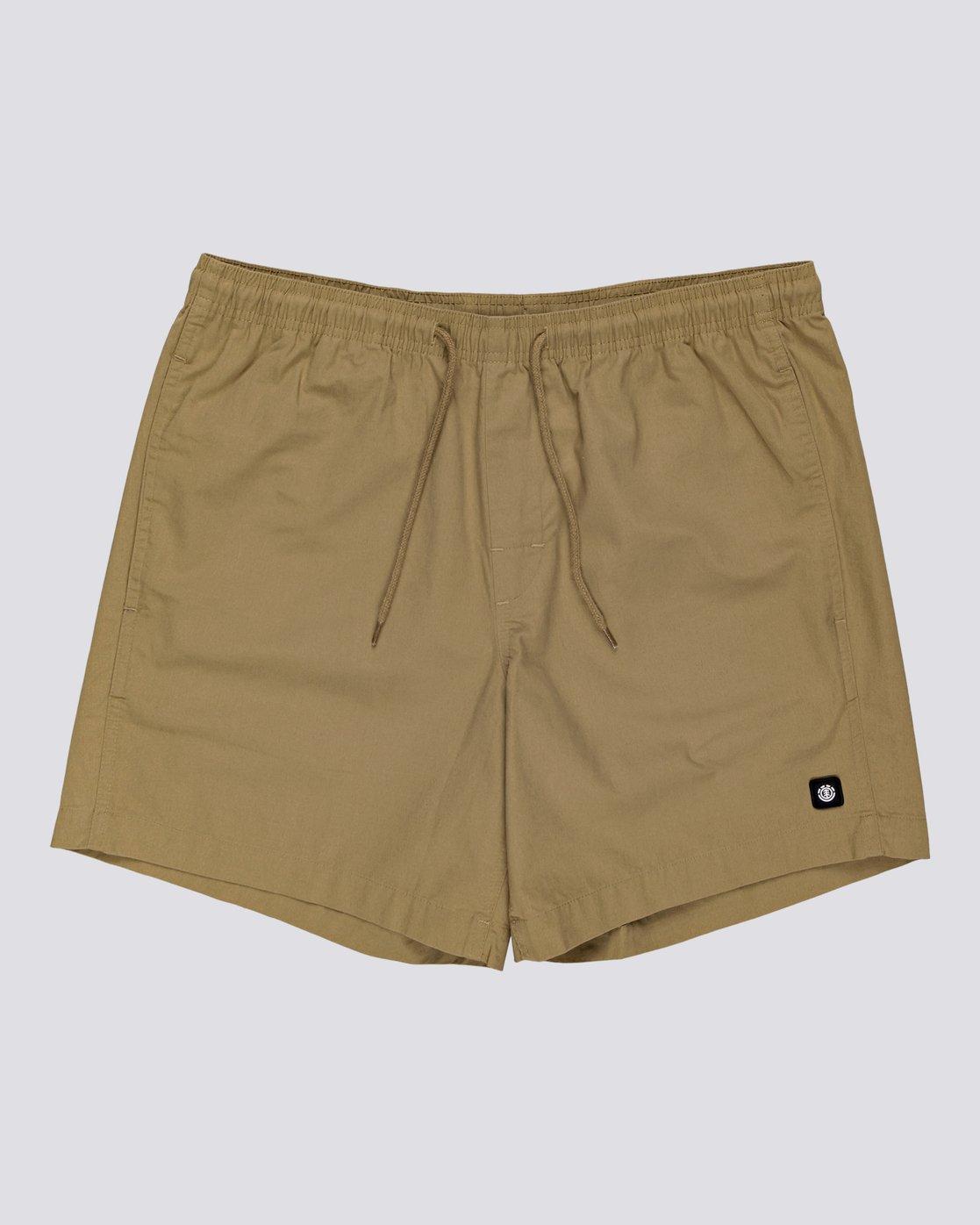 "2 Vacation 16"" - Elastic Waist Shorts for Men Brown S1WKC1ELMU Element"