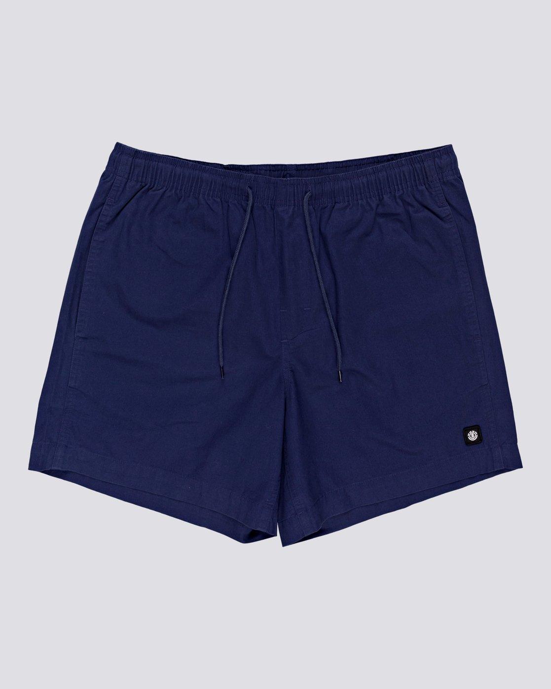 "0 Vacation 16"" - Elastic Waist Shorts for Men Blue S1WKC1ELMU Element"