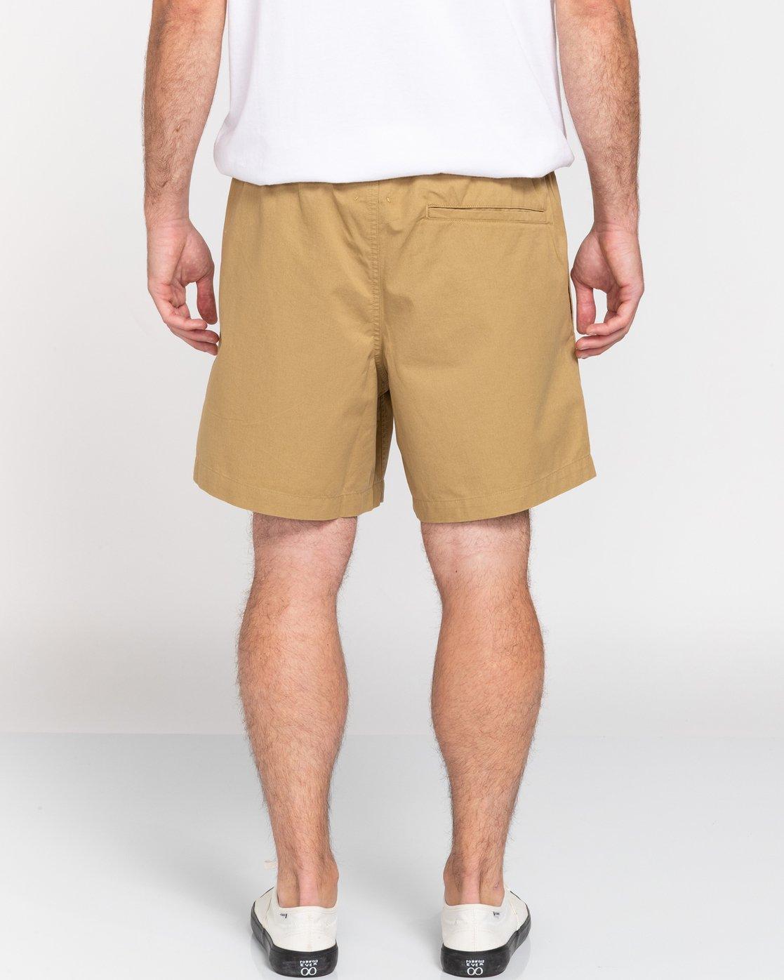"6 Vacation 16"" - Elastic Waist Shorts for Men Brown S1WKC1ELMU Element"