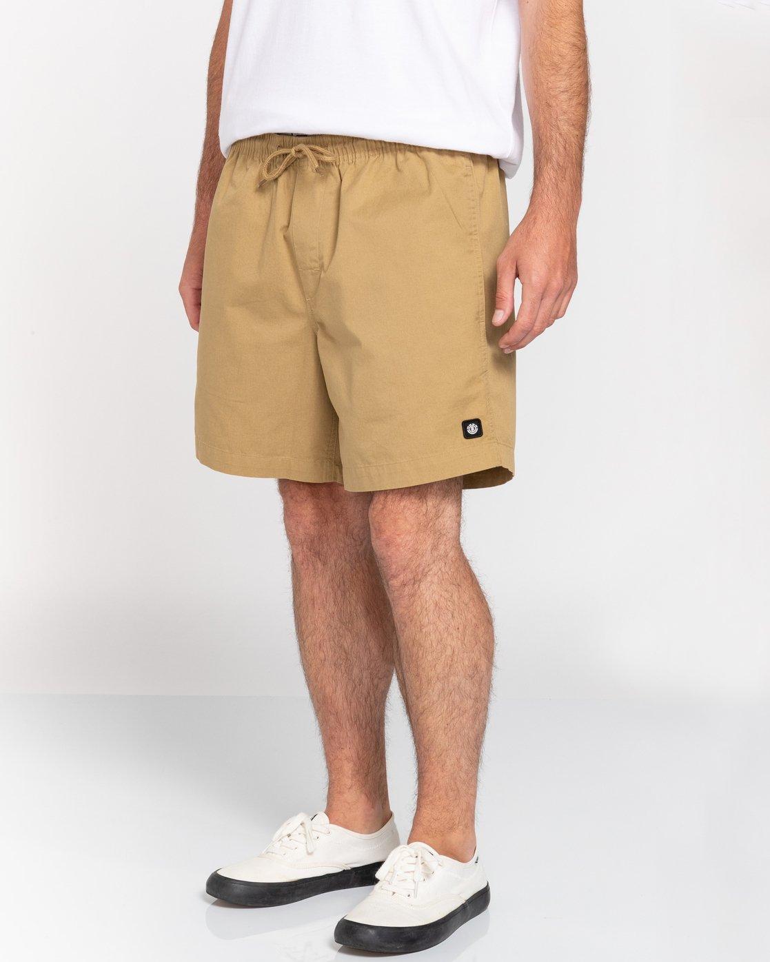 "5 Vacation 16"" - Elastic Waist Shorts for Men Brown S1WKC1ELMU Element"