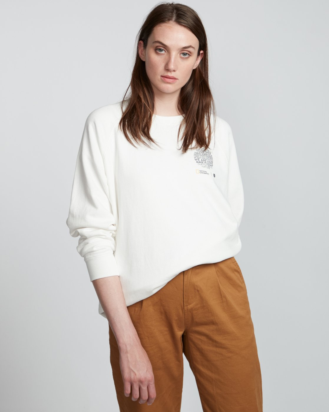 1 Nat Geo - Sweatshirt for Women White S3CRA4ELP0 Element