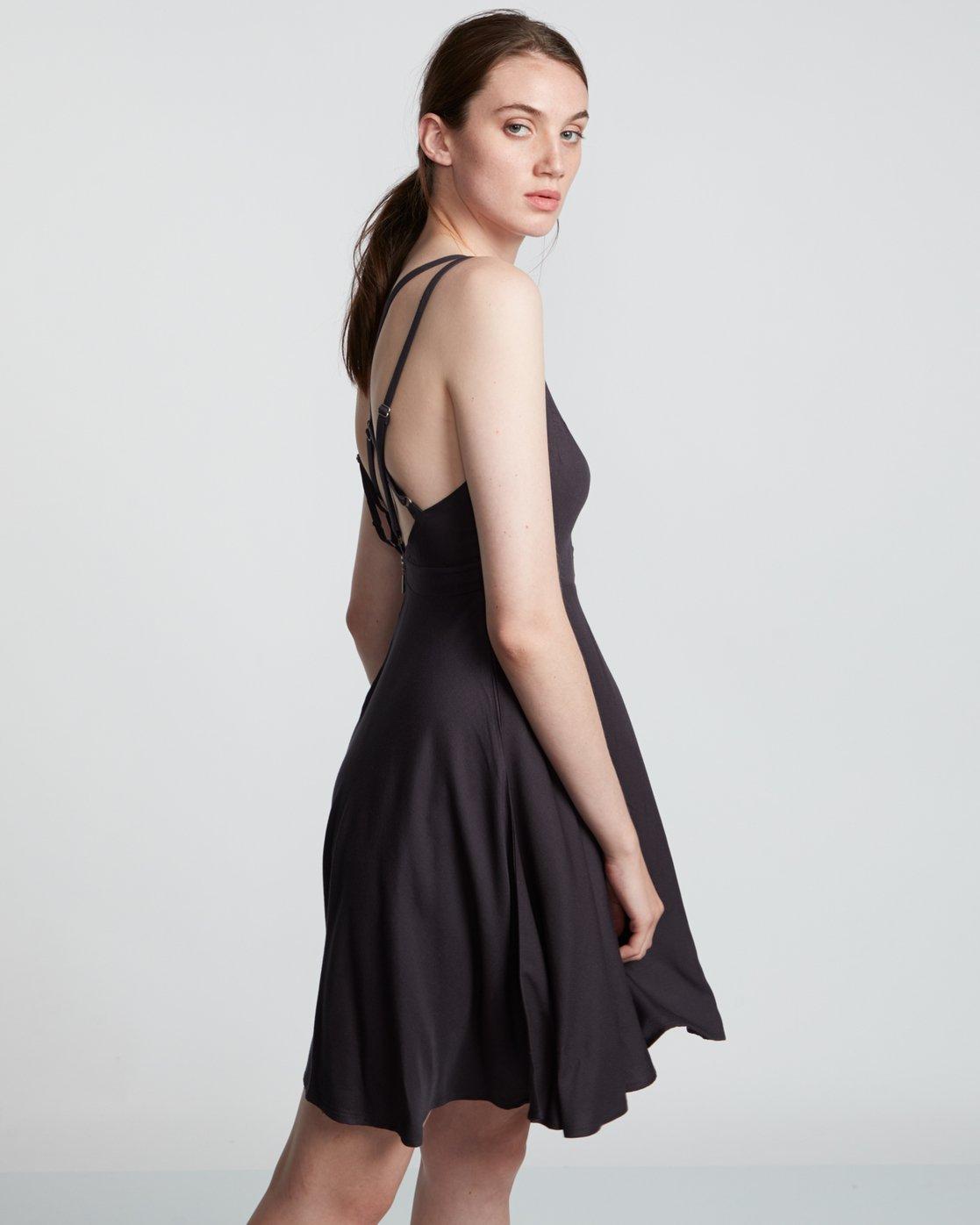 3 Heart Twill - Viscose Dress for Women Black S3DRA2ELP0 Element