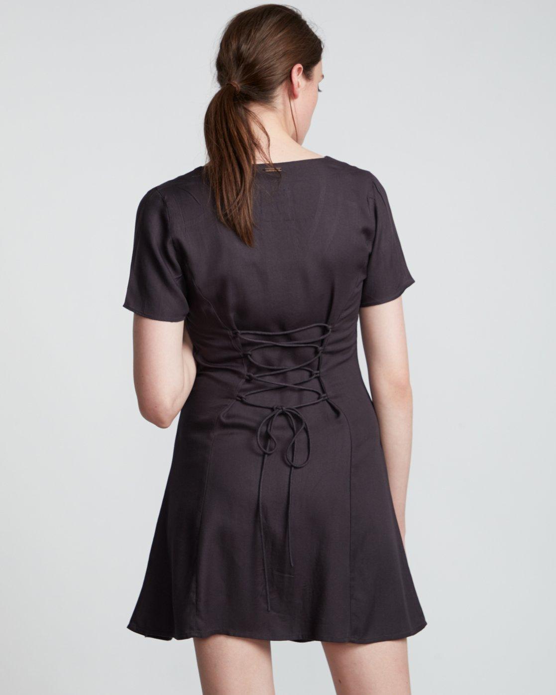 3 Sue Twill - Short Sleeve Dress for Women Black S3DRA5ELP0 Element
