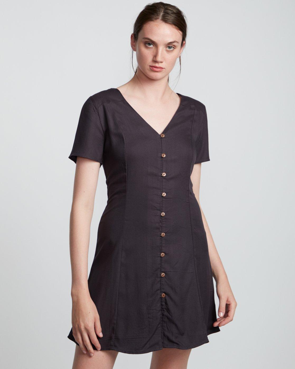 2 Sue Twill - Short Sleeve Dress for Women Black S3DRA5ELP0 Element