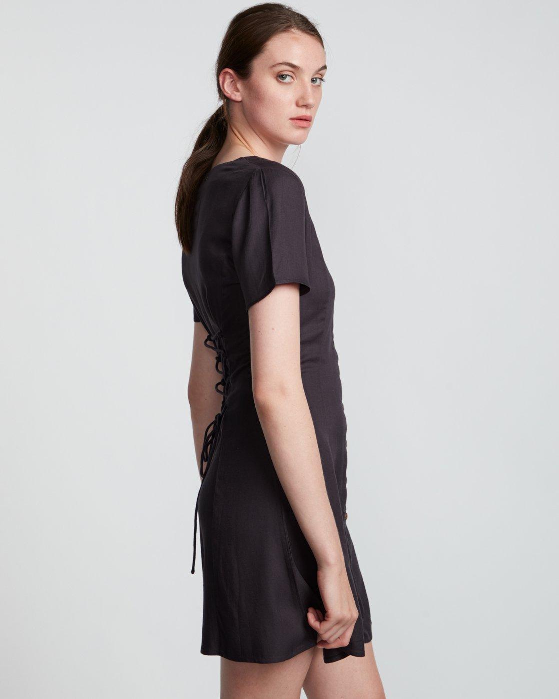 4 Sue Twill - Short Sleeve Dress for Women Black S3DRA5ELP0 Element
