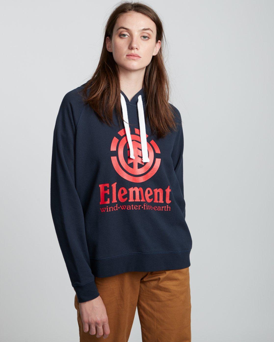 1 Verticalli - Sweat à capuche pour Femme Bleu S3HOA1ELP0 Element