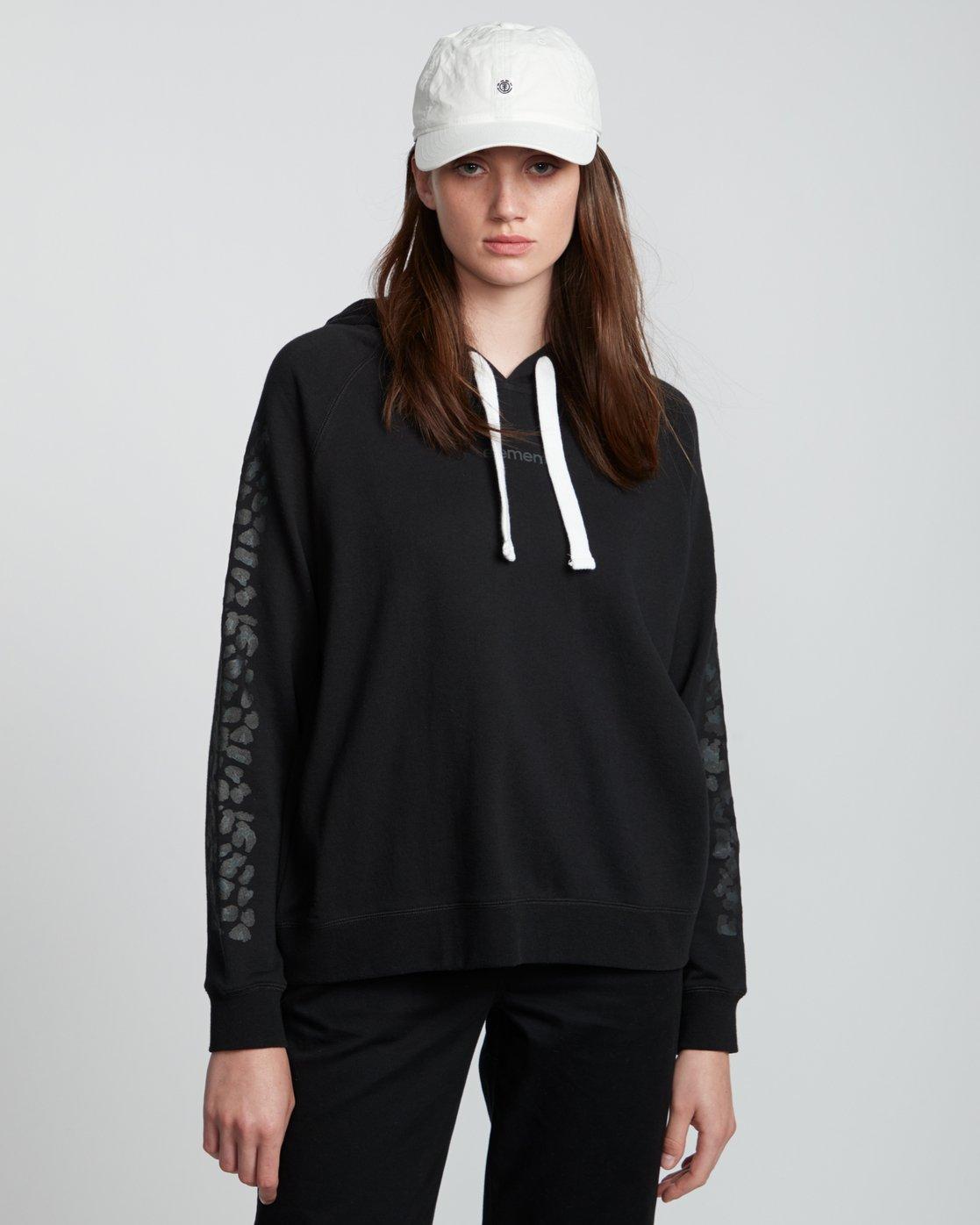 1 Branded - Sweat à capuche pour Femme Noir S3HOA5ELP0 Element
