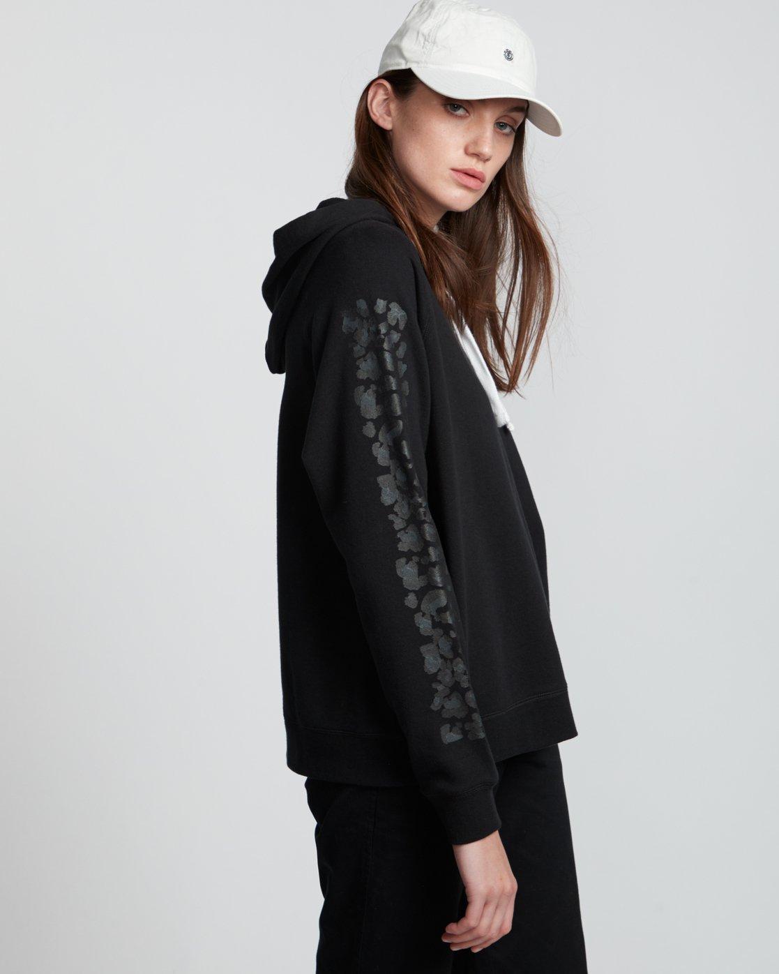 3 Branded - Sweat à capuche pour Femme Noir S3HOA5ELP0 Element