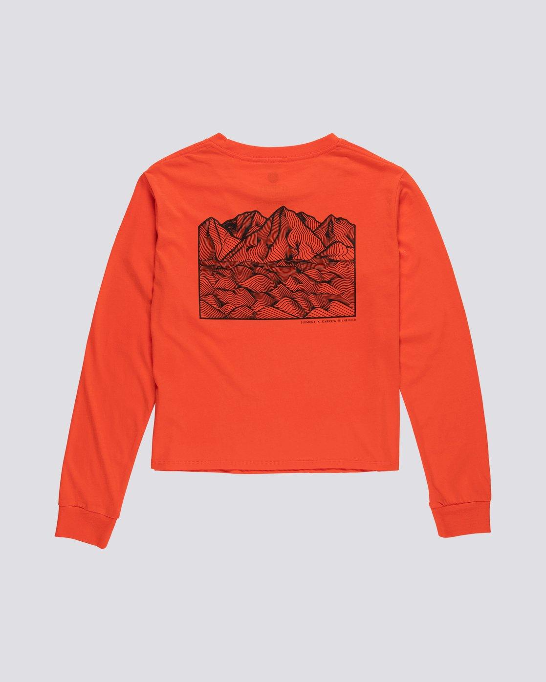 1 Christa Crop - Organic Cotton Long Sleeve T-Shirt for Women  S3LSA3ELP0 Element