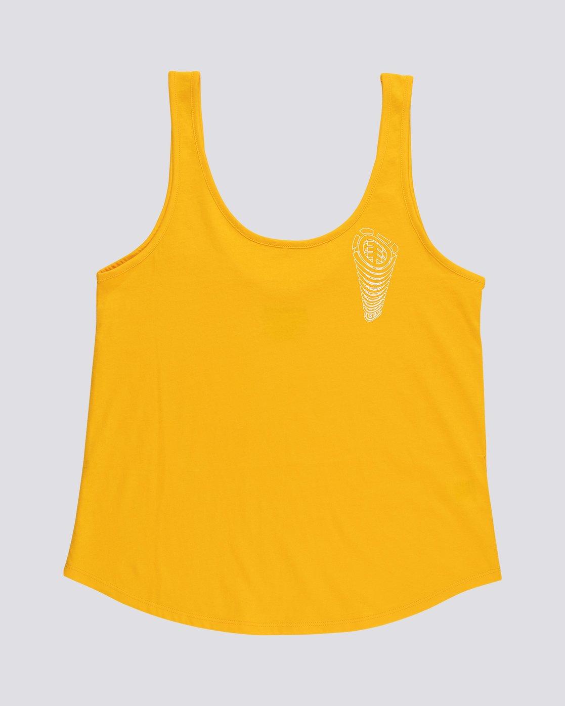 0 Branded Low - Organic Cotton Vest Top for Women  S3SGA4ELP0 Element