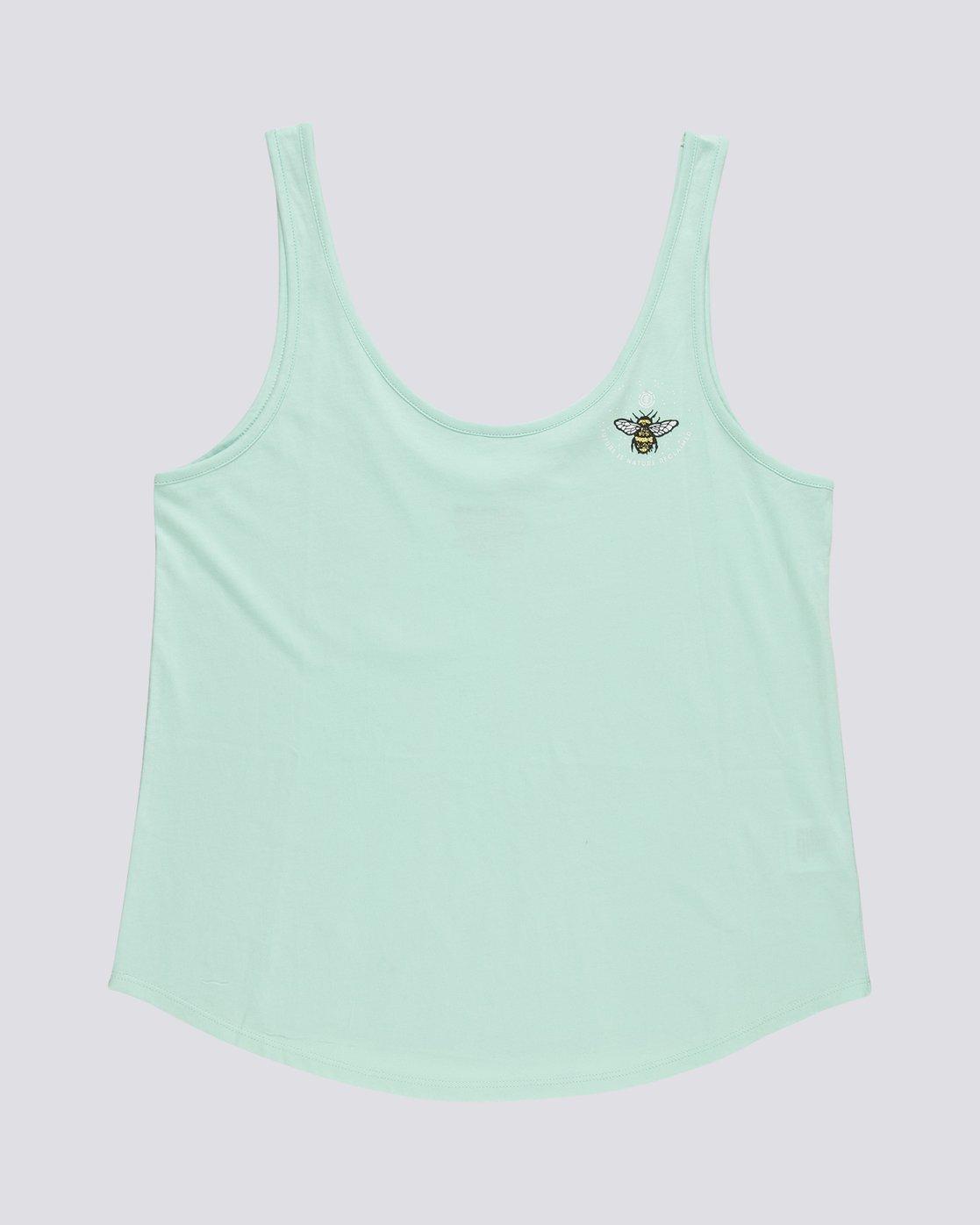 0 Branded Low - Organic Cotton Vest Top for Women Blue S3SGA4ELP0 Element